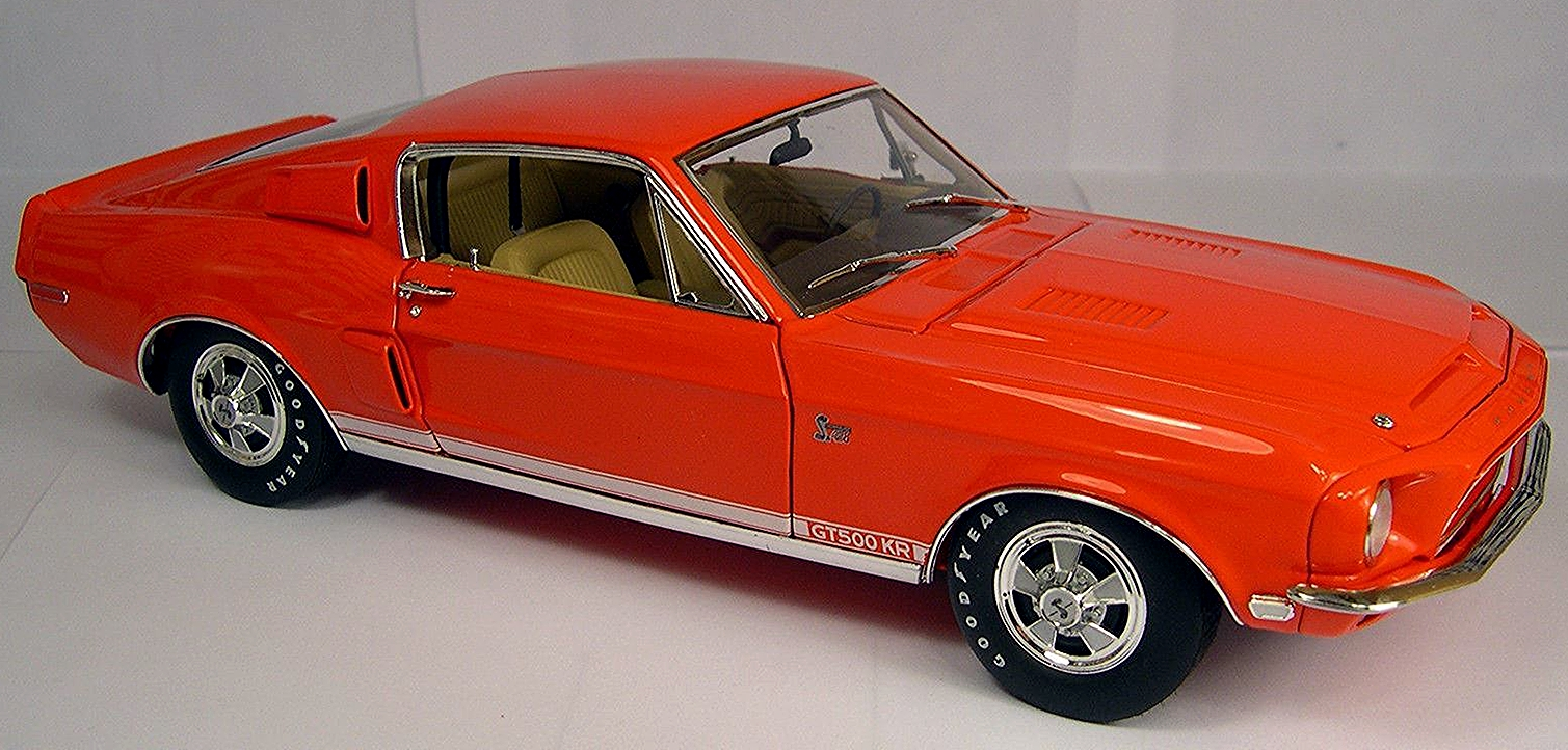 1968 shelby mustang gt500kr red w stripes