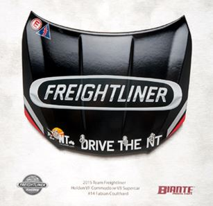 Holden VF Commodore Freightliner Racing Signature Bonnet - 2015 Fabian Coulthard