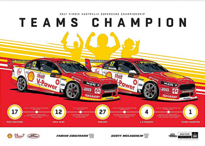 Shell V-Power Racing Team 2017 Teams Champion Limited Edition Print