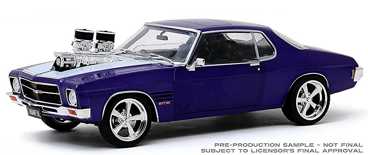 1:24 HANFUL 1973 Holden Monaro HQ GTS Custom Burnout Car
